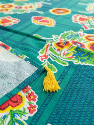 Mexican Flower Tablecloth-Kitchen Goods-Ametsuchi