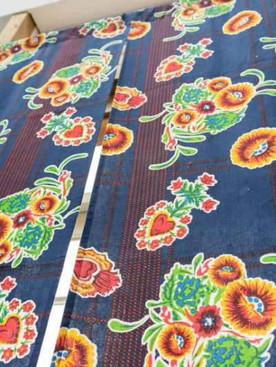 Mexican Flower NOREN Door Curtain-Home Decor-Ametsuchi