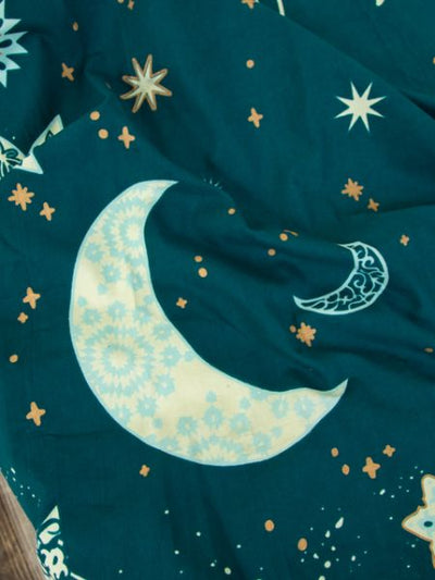 Starry Night Bed Cover Multi Cloth-Bed Linens-Ametsuchi