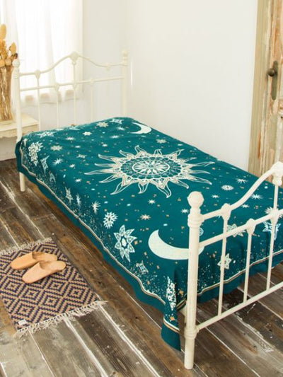 Starry Night Bed Cover Multi-Ropa de cama de tela-Ametsuchi