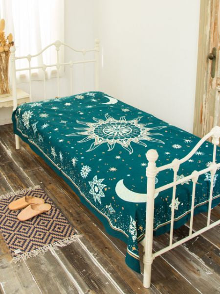 Beding Starry Bed Cover Multi Cloth-Bed Linens-Ametsuchi