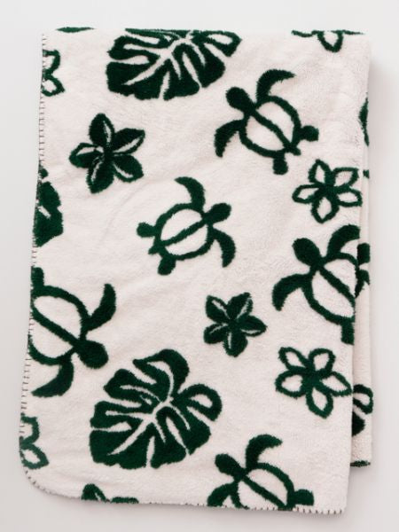 Monstera & Honu Blanket M Size
