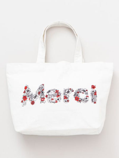 Merci Tote Bag-Bags & Purses-Ametsuchi