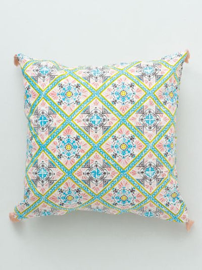Portuguese Tile Pattern Cushion Cover-Ametsuchi