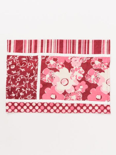 Patchwork Style Placemat with Flower-Ametsuchi