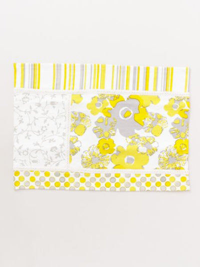 Patchwork Style Placemat with Flower -Kitchen Goods-Ametsuchi