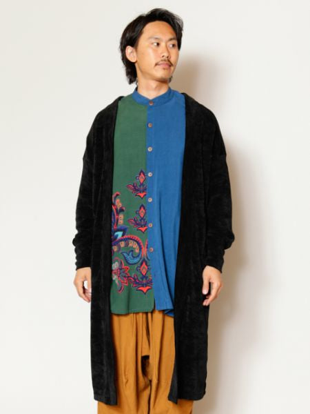 Mole Yarn Knit Sew Men's Cardigan-Ametsuchi