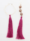 Oriental Asymmetry Leaf Earrings -Earrings-Ametsuchi