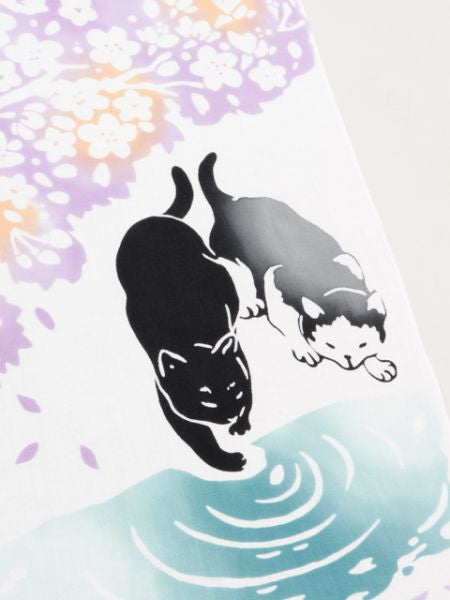 SAKURA Cat TENUGUI Towel -Others-Ametsuchi
