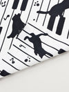 Piano Cat TENUGUI Towel -Others-Ametsuchi