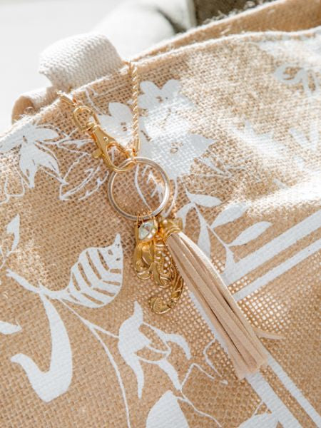 Initial Gold Bag Charm