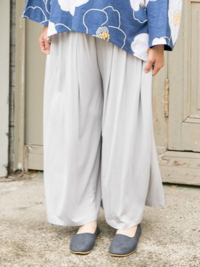 HAKAMA Inspired Wide Leg Pants-Pants & Shorts-Ametsuchi
