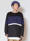 Bi Color Stripe Sweat Top & Tank Set-Tops-Ametsuchi