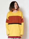 Bi Color Stripe Sweat Top & Tank Set -Tops-Ametsuchi