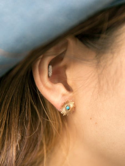 Birthstone Asymmetric Earrings-Ametsuchi