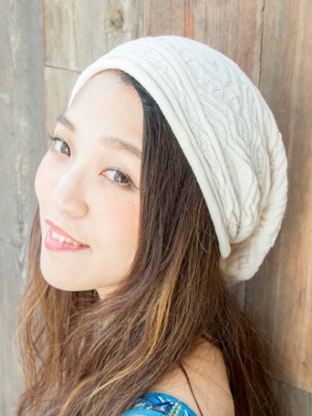 Cotton Knitted Beanie-Caps & Hats-Ametsuchi