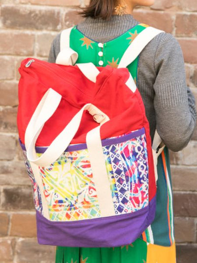 Ethnic Pattern 2way Backpack & Tote Bag
