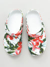 Corak Bodanical EVA Clog Sandals Sabo Ladies Size -Shoes-Ametsuchi