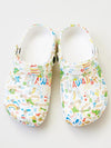 Hawaiian Pattern EVA Clog Sandals Sabo Men's Size -Shoes-Ametsuchi