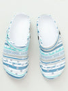 Sea Border Pattern EVA Clog Sandals Sabo Men's Size -Shoes-Ametsuchi