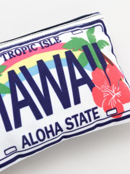 Hawaiian Car Plate Inspired Pouch