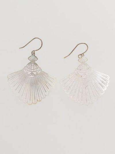 Openwork Peacock Earrings -Earrings-Ametsuchi