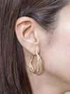 Layered Twisted Hoop Earrings -Earrings-Ametsuchi