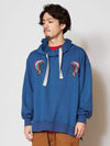 Native Motif Embroidery Hoodie-Tops-Ametsuchi