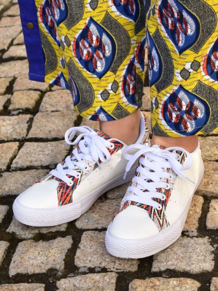 Ethnic Pattern Print Sneakers-Shoes-Ametsuchi