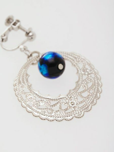 Firefly Ball Openwork Frame Earrings -Earrings-Ametsuchi
