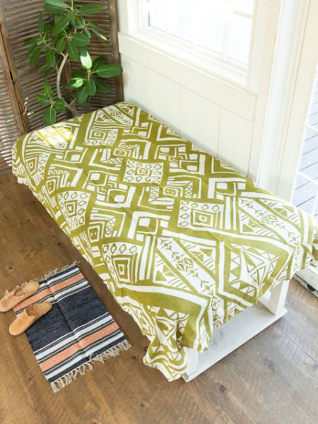 Bogolan Style Gypsy Bed Cover-Bed Linens-Ametsuchi