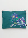 Dragon Embroidered Large Clutch Bag