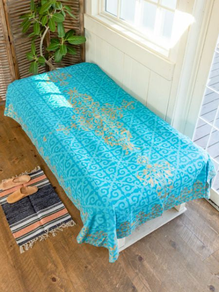 Royal Palace Tile Feel Bed Cover-Bed Linens-Ametsuchi