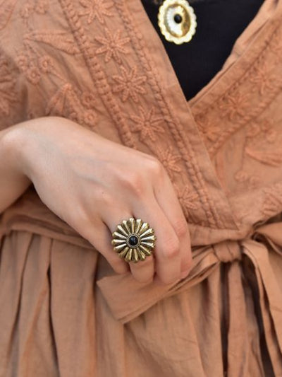 Sanchez Flower Ring -Rings-Ametsuchi