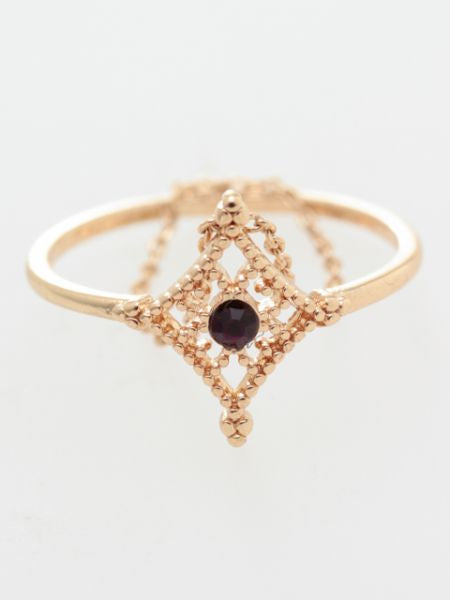 Birth Month Color Thin Ring-Rings-Ametsuchi