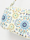 Portuguese Tile Pattern Drum Shoulder Bag -Bags & Purses-Ametsuchi