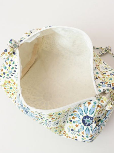 Portugais Tile Pattern Drum Shoulder Bag -Sacs et porte-monnaie-Ametsuchi