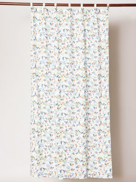 Botanical Bird Pattern Curtain-Ametsuchi