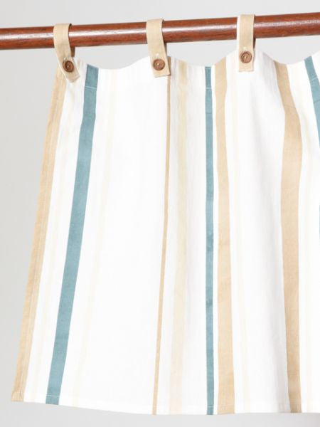 Basque Stripe Inspired NOREN Cafe Curtain-Ametsuchi