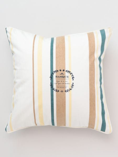 Basque Stripe Style Cushion Cover-Cushion Covers-Ametsuchi