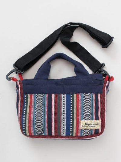 Nepalese woven mini bag 2WAY-Bags & Purses-Ametsuchi