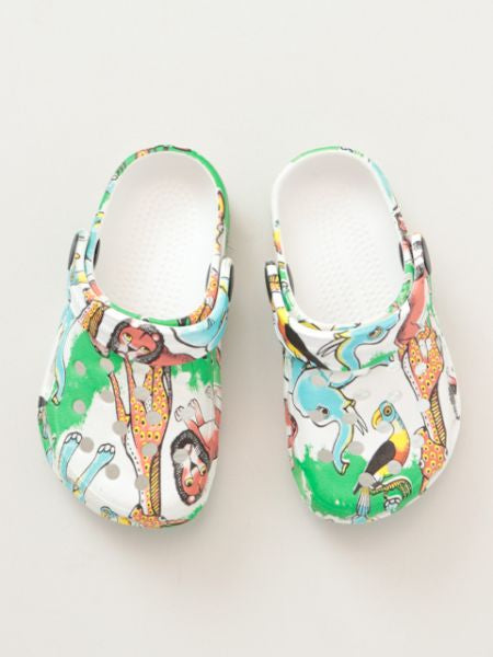 Safari Pattern EVA Clog Sandals Sabo Kids Size -Accessories-Ametsuchi