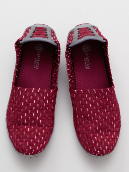 Elastic Lattice Slip On Schuhe-Ametsuchi