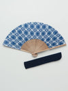 Japanese fragrance Hishihana paper folding fan with bag -Others-Ametsuchi