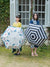 Japan Blue Stripe Foldable Umbrella Shine / Rain
