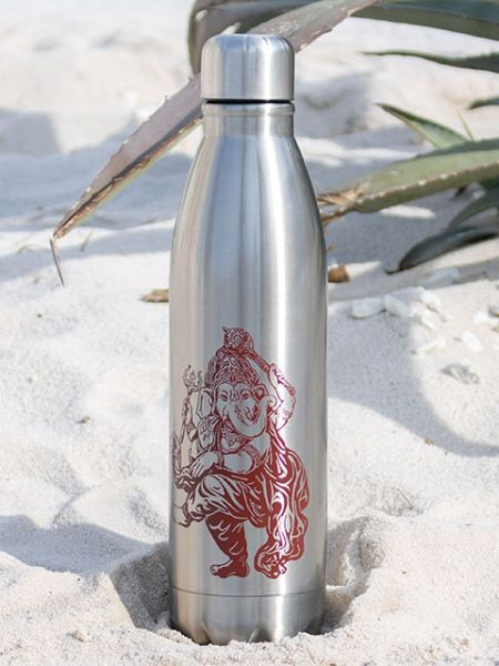 Ganesha Bercetak Stainless Steel Bottle-Kitchen Goods-Ametsuchi