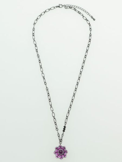 Luminescent Lotus Metal ChainMEN'S Necklaces-Ametsuchi