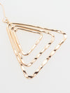 Triangle x Square Asymmetric Metal Earrings -Earrings-Ametsuchi