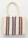 Stripe Basket Tote Bag