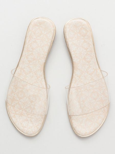 Tile Pattern Sole Clear Sandals